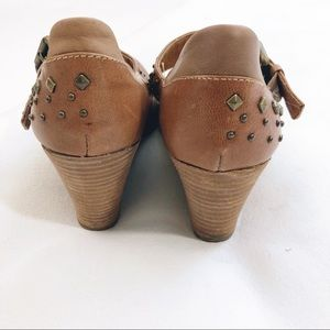 Sofft Shoes - Sofft Analise studded Wedge Maryjanes Brown Size 7